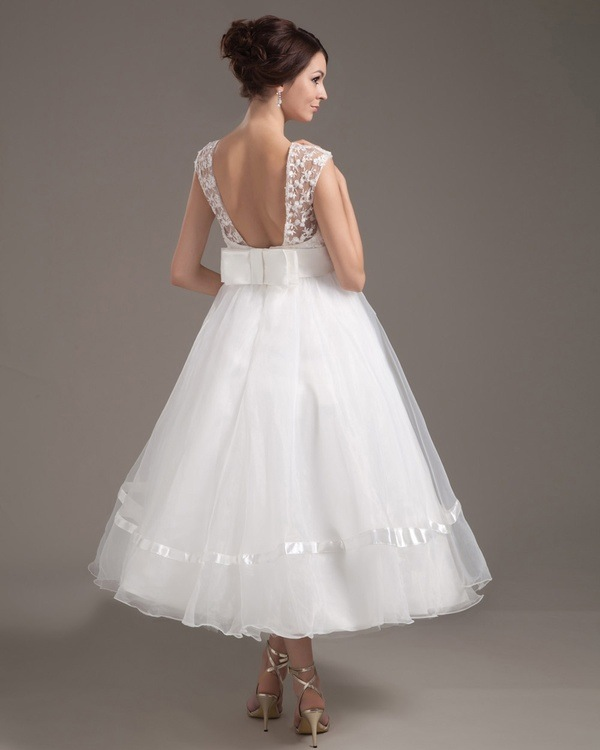 Robe de mari e la tendance ballerine for Vera wang tea length wedding dress