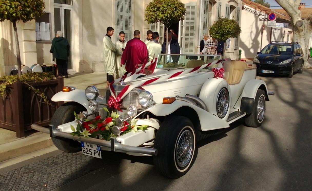 decoration voiture mariage vaucluse