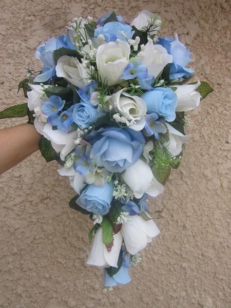 Bouquet de la mari e fleuriste mariage haute garonne 31 saint thomas les prestataires - Bouquet mariee bleu ...