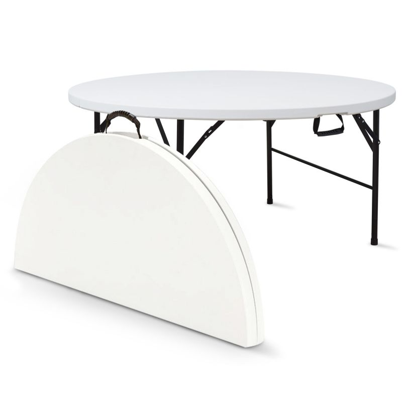 Mpresta articles f tes mobilier chapiteaux locations for Table ronde 52 chimay