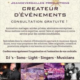 JeanDeVersailles – Productions – DJ's – Sono – Light – Singers