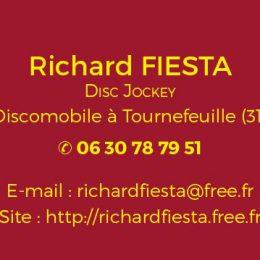 Richard FIESTA Dj animateur discomobile