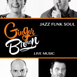 GINGER BROWN – GROUPE DE MUSIQUE JAZZ/SOUL/FUNK/DISCO