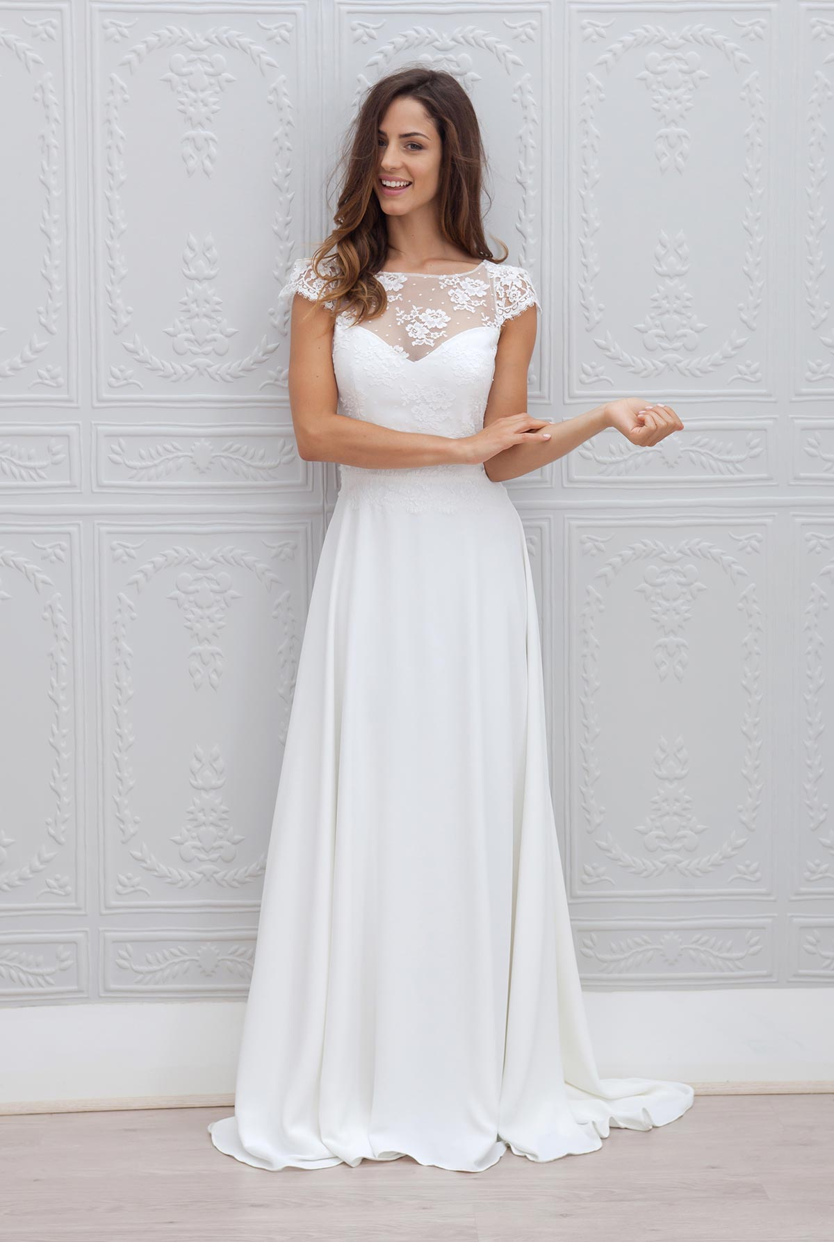 Robe de mari e c cilia par marie laporte collection 2015 for Robes de mariage petite macy
