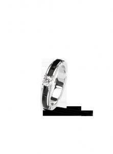 Chanel bague ultra en or blanc 18 carats, céramique noire et diamant