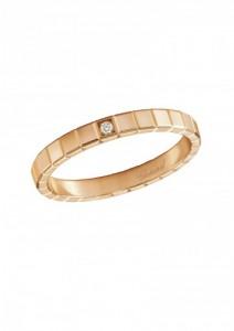 Chopard bague ice cube or rose 18 carats et diamant