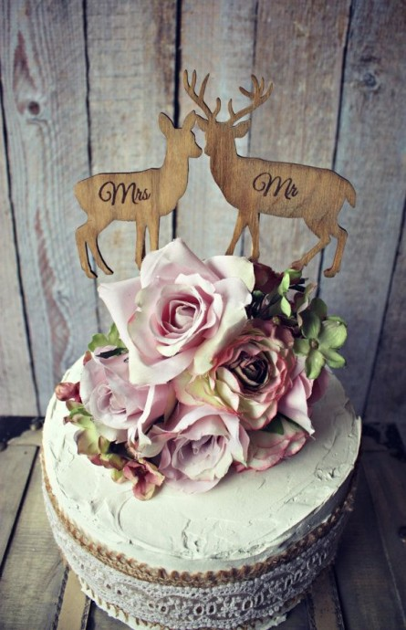 chasse-cake-topper