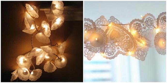 DIY guirlande en dentelle lumineuse