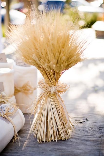 centre de table blé