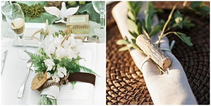 Un mariage nature chic a donne quoi - Idee decoration mariage theme nature ...