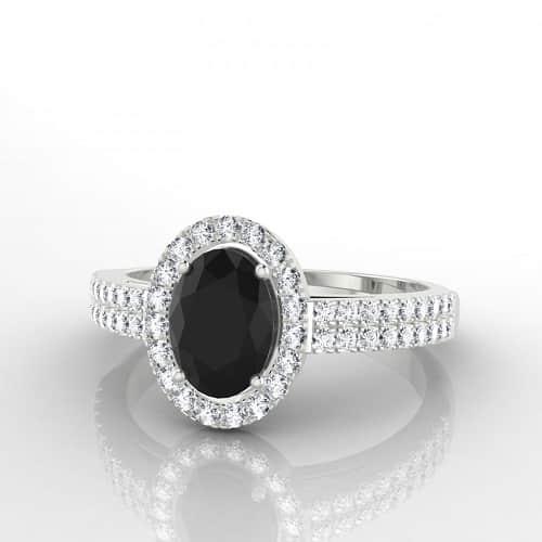 diamant noir bague celestine edendiam