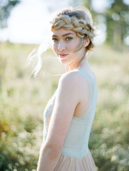 couronne de tresse headband