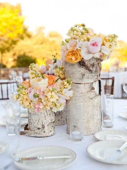 vase bois naturel