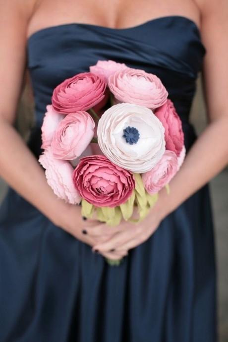 bouquet en papier