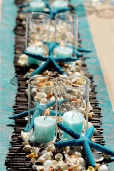 chemine de table mer