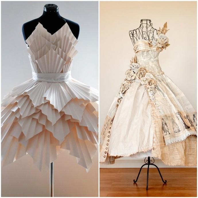 Ma d coration de mariage petits papiers - Robe en origami ...
