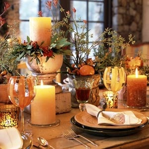Inspiration d co pour un mariage d automne Fall decorating ideas for dinner party