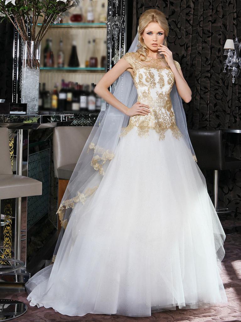 robe de mariee doree julianne hough dans robe princesse de