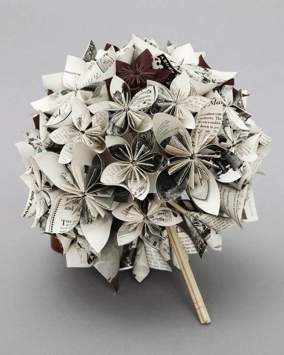 mon bouquet de mari e en papier plus vrai que nature. Black Bedroom Furniture Sets. Home Design Ideas