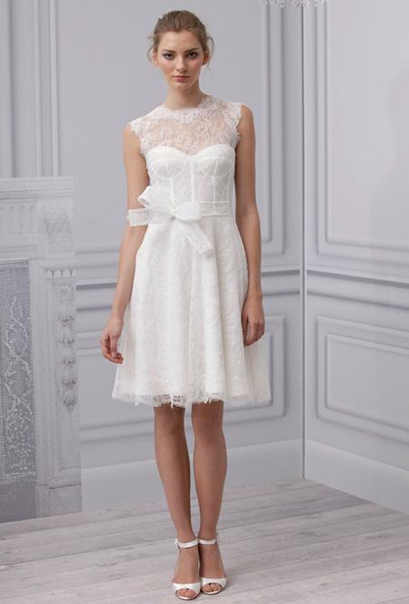 Mêlant chic et rétro, cette robe de mariée courte de la collection ...