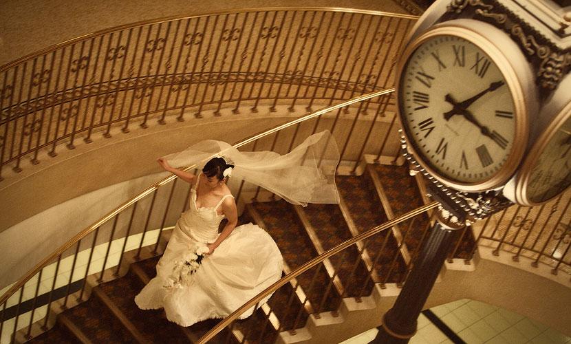 mariée en retard