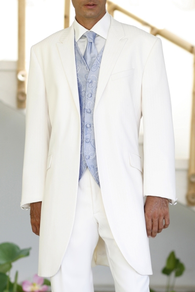 modele costume blanc col chale_913_3055 - Costume Mariage Blanc Cass
