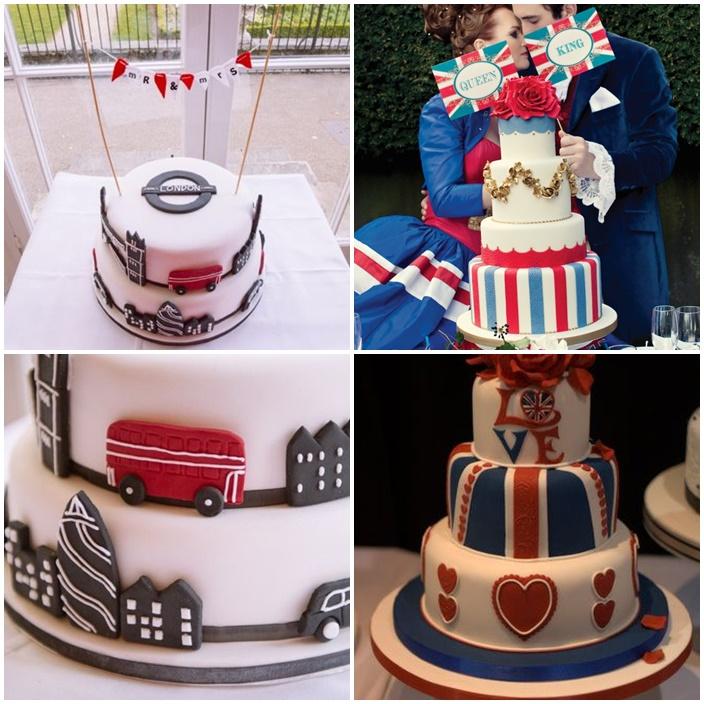 wedding cake mariage chic so british