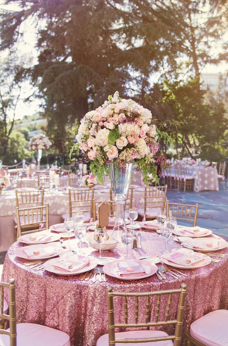 table de mariage rose