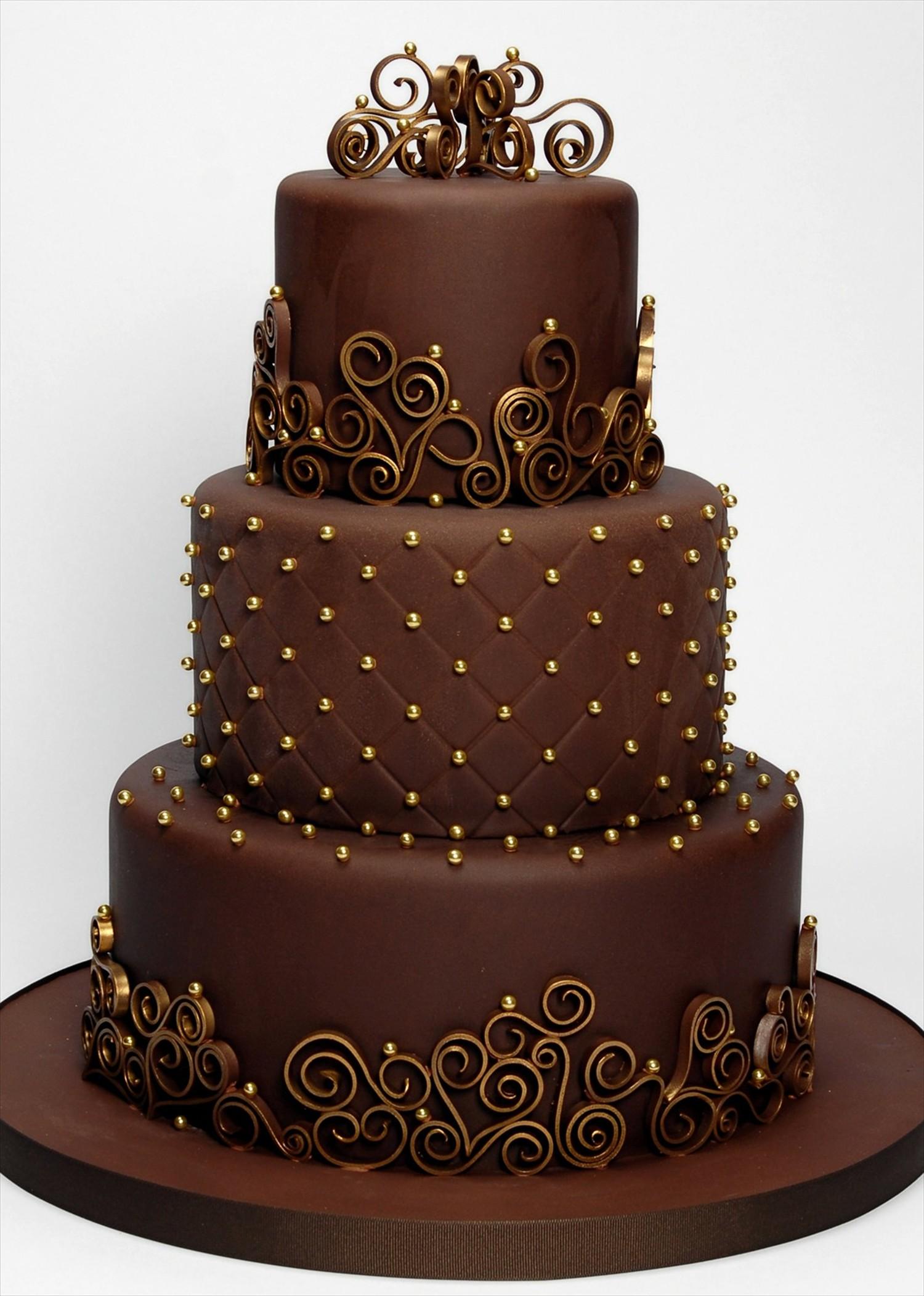 Un wedding cake tout chocolat! 1