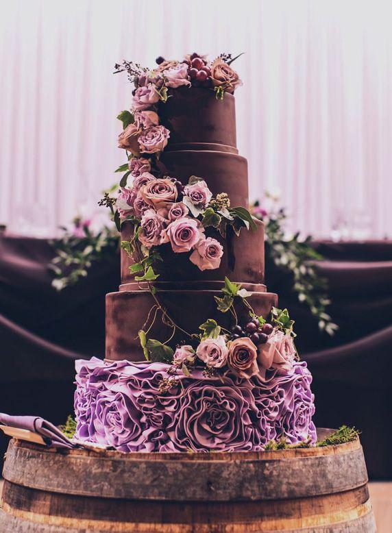 4 wedding cake roses et choco