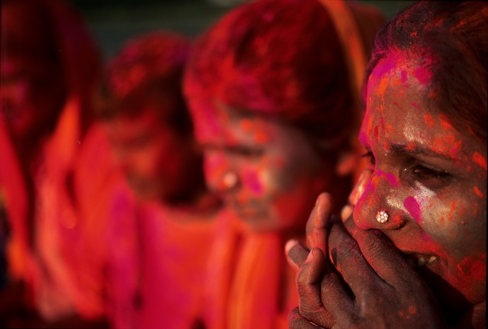 HOLI FESTIVAL IN MATHURA, UTTAR PRADESH, INDIA