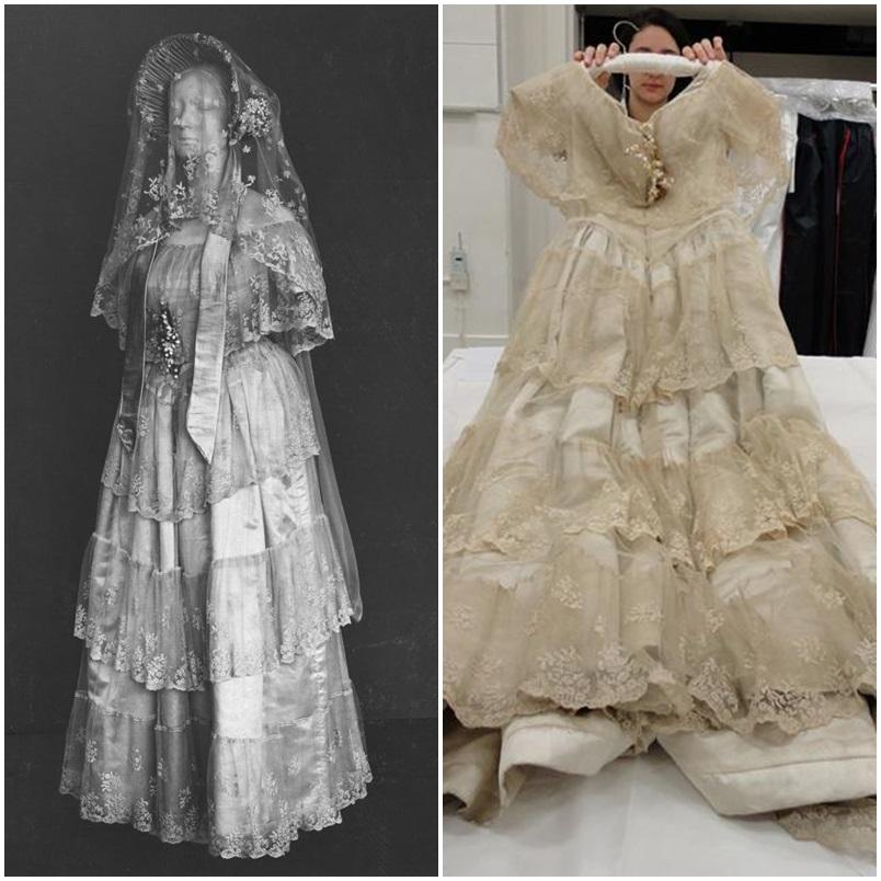 1848 : Robe pour le Mariage d'Henrietta Woodcock par un designer inconnu