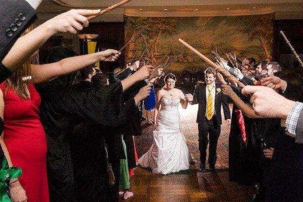 mariage harry potter sortie de ceremonie