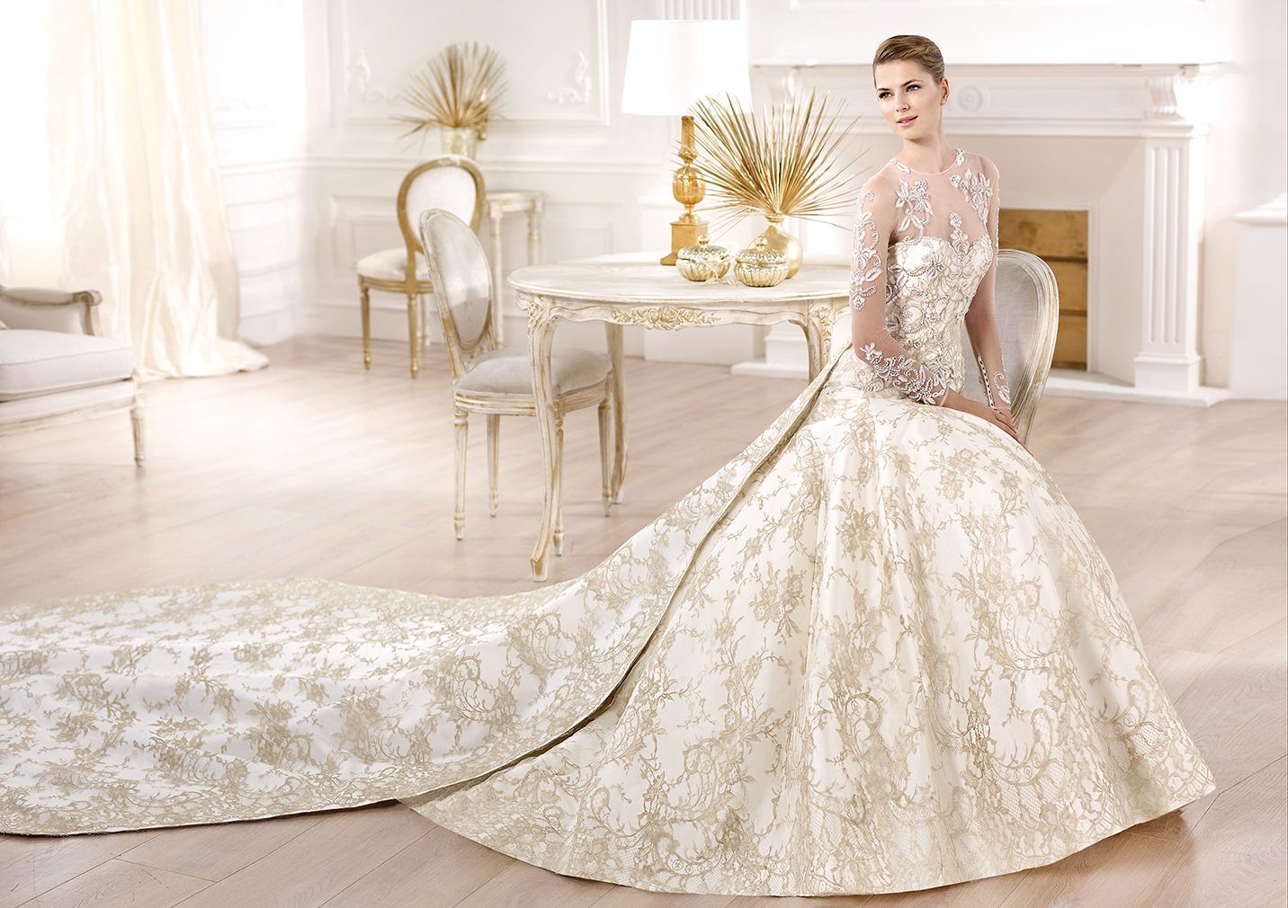 Tendance : quelques touches dorées sur ma robe de mariée   Mariage