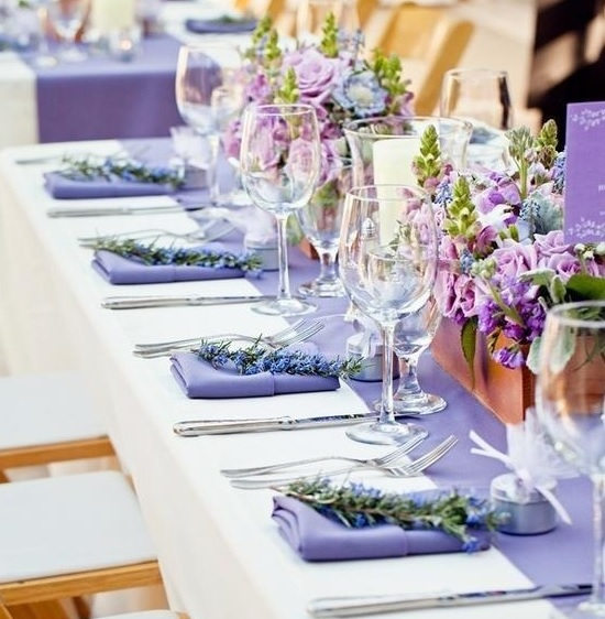 decoration table mariage provence