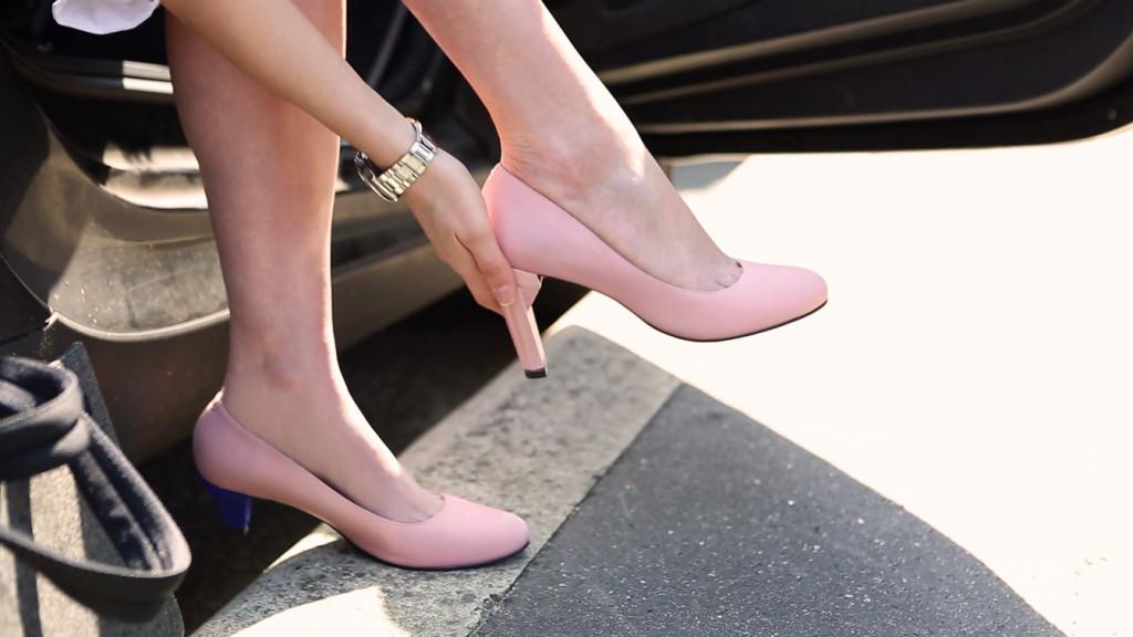 Chaussure A Talon Modulable