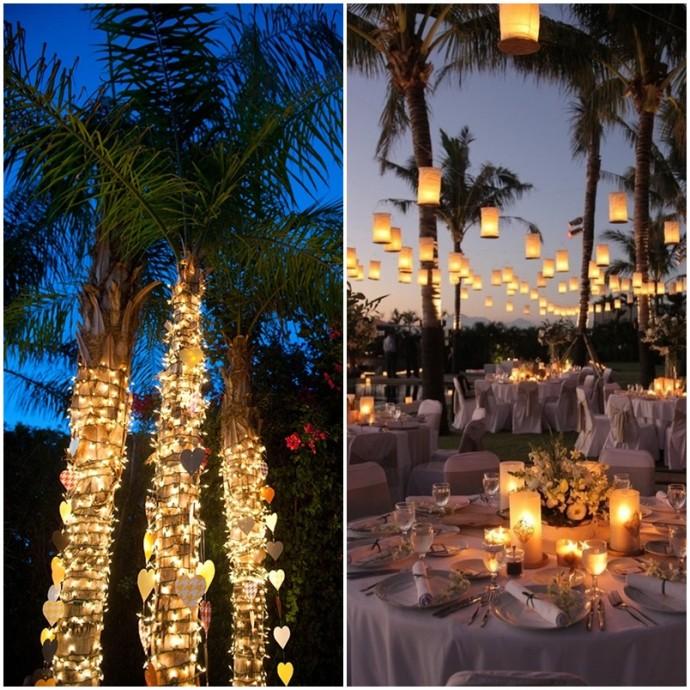 mariage exotique palmier