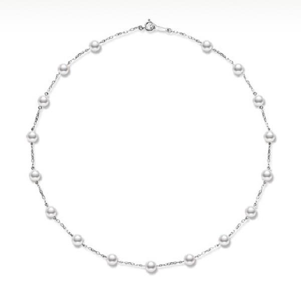 Mikimoto sautoir perles