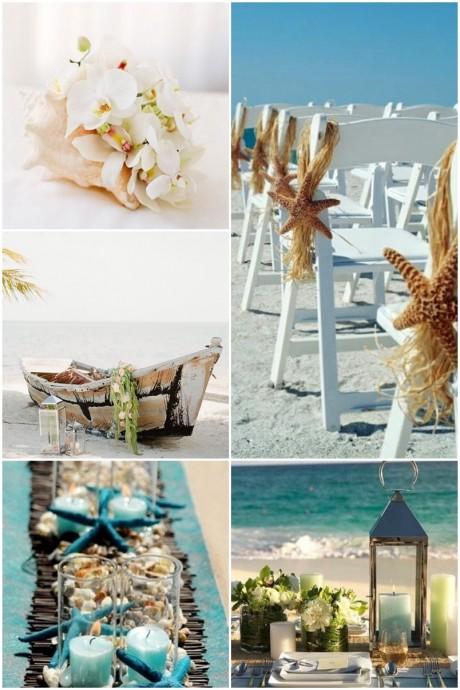 Organiser mon mariage sur la plage c 39 est possible Centre table mariage plage idees