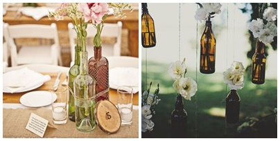 diy on customise des bouteilles de verres pour son mariage. Black Bedroom Furniture Sets. Home Design Ideas