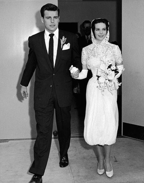 Natalie Wood et Robert Wagner, acteurs, 1957