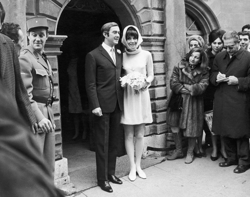 Audrey Hepburn, actrice, et  Andrea Dotti, psychiatre, 1969