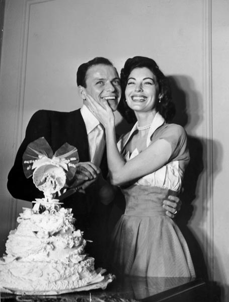 Franck Sinatra, chanteur, et Ava Gardner, actrice, 1951