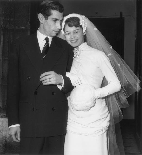 Brigitte Bardot et Roger Vadim, acteurs, 1952