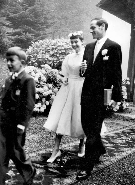 Audrey Hepburn et Mel Ferrer, acteurs, 1954