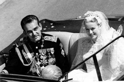 Le Prince Rainier de Monaco et Grace Kelly, actrice, 1956