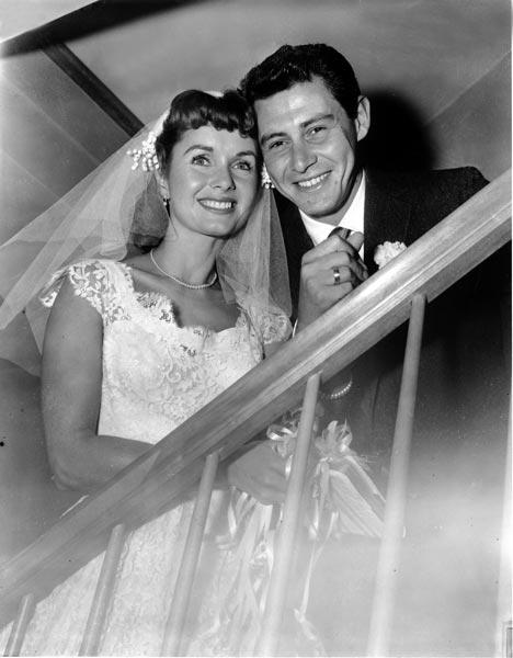 Debbie Reynolds, actrice et Eddie Fisher, chanteur, 1956