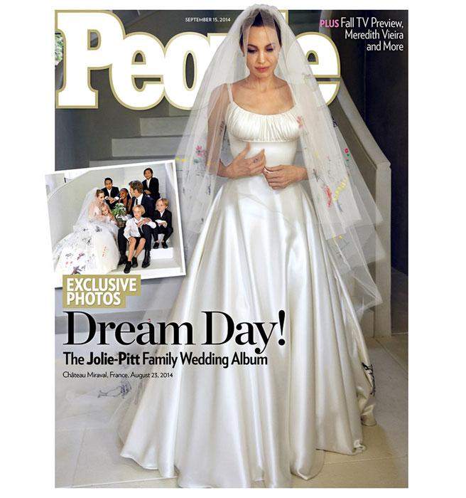 La robe de mariée d'Angelina Jolie dévoilée