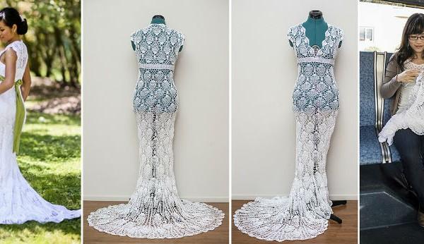 Mariage robe crochet