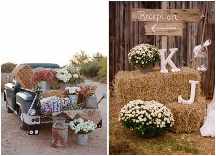 Mon mariage ambiance rustique for Decoration rustique campagne